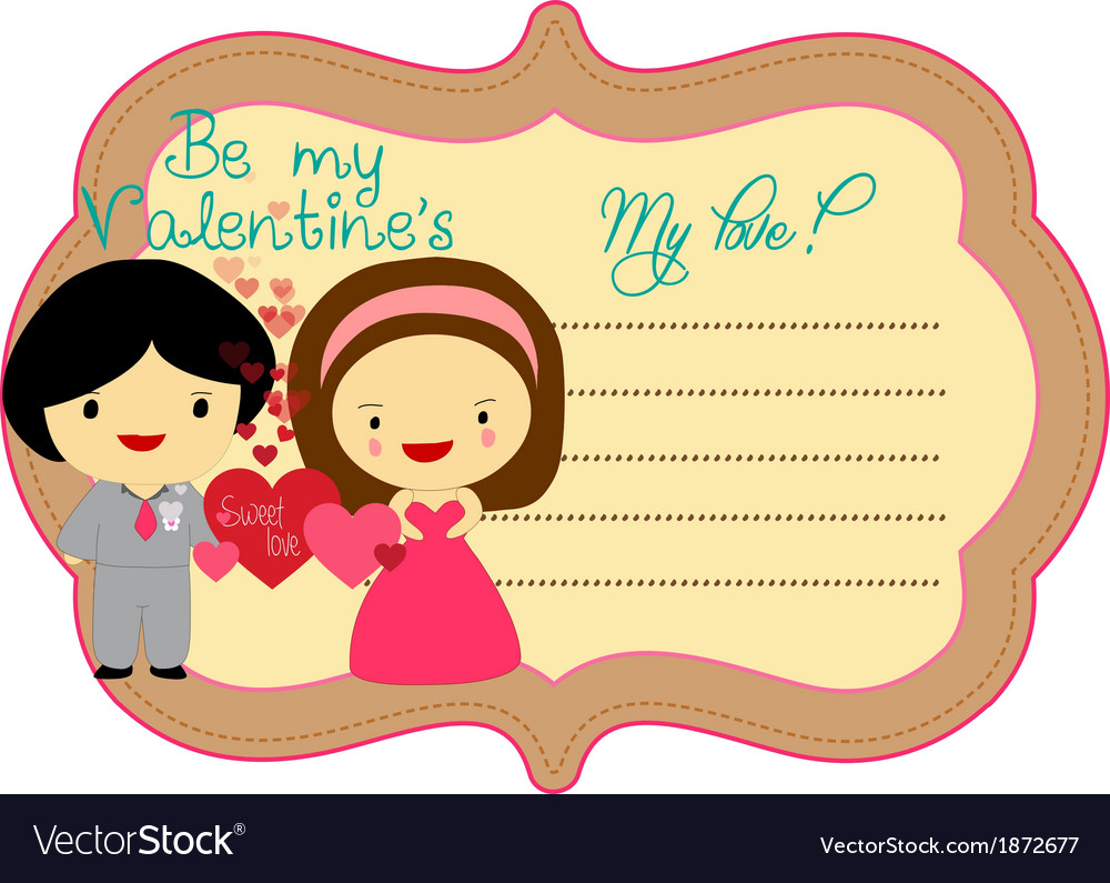 Be my valentines about label vector | Price: 1 Credit (USD $1)