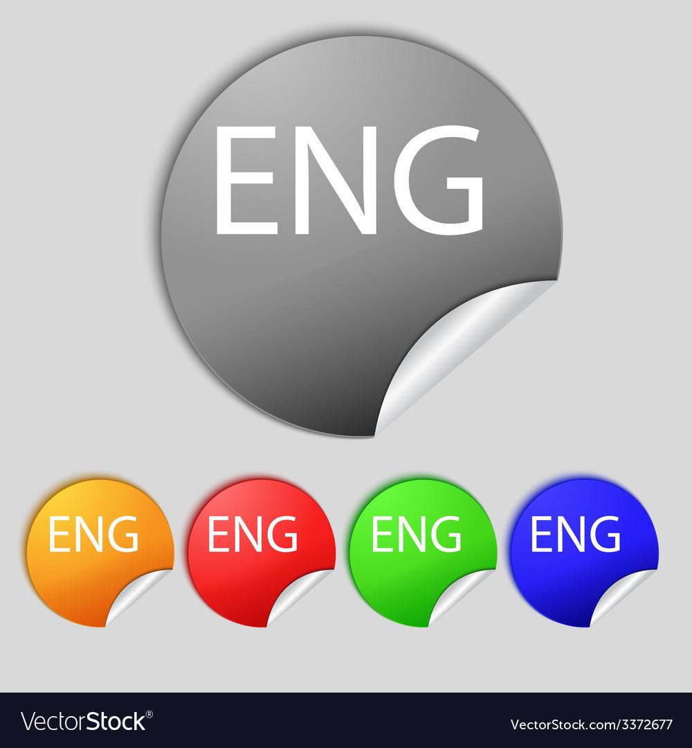 English sign icon great britain symbol set of vector | Price: 1 Credit (USD $1)
