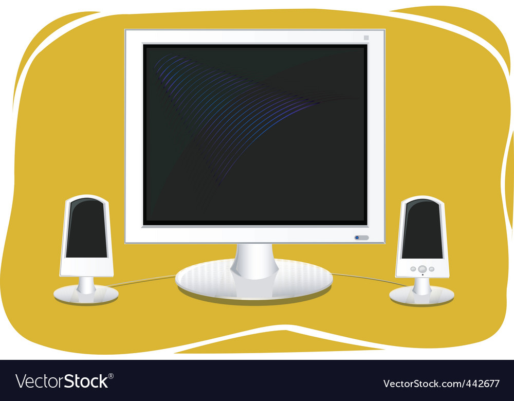 Flat screen computer vector | Price: 1 Credit (USD $1)