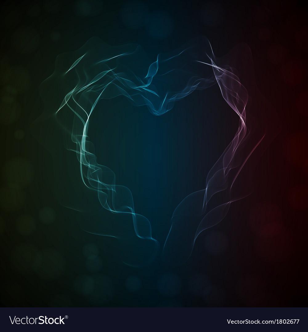 Glowing smoke heart vector   Price: 1 Credit (USD $1)
