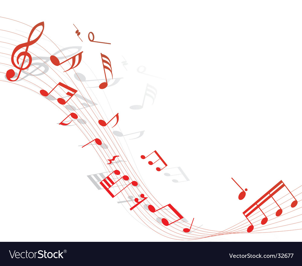 Musical staff vector | Price: 1 Credit (USD $1)