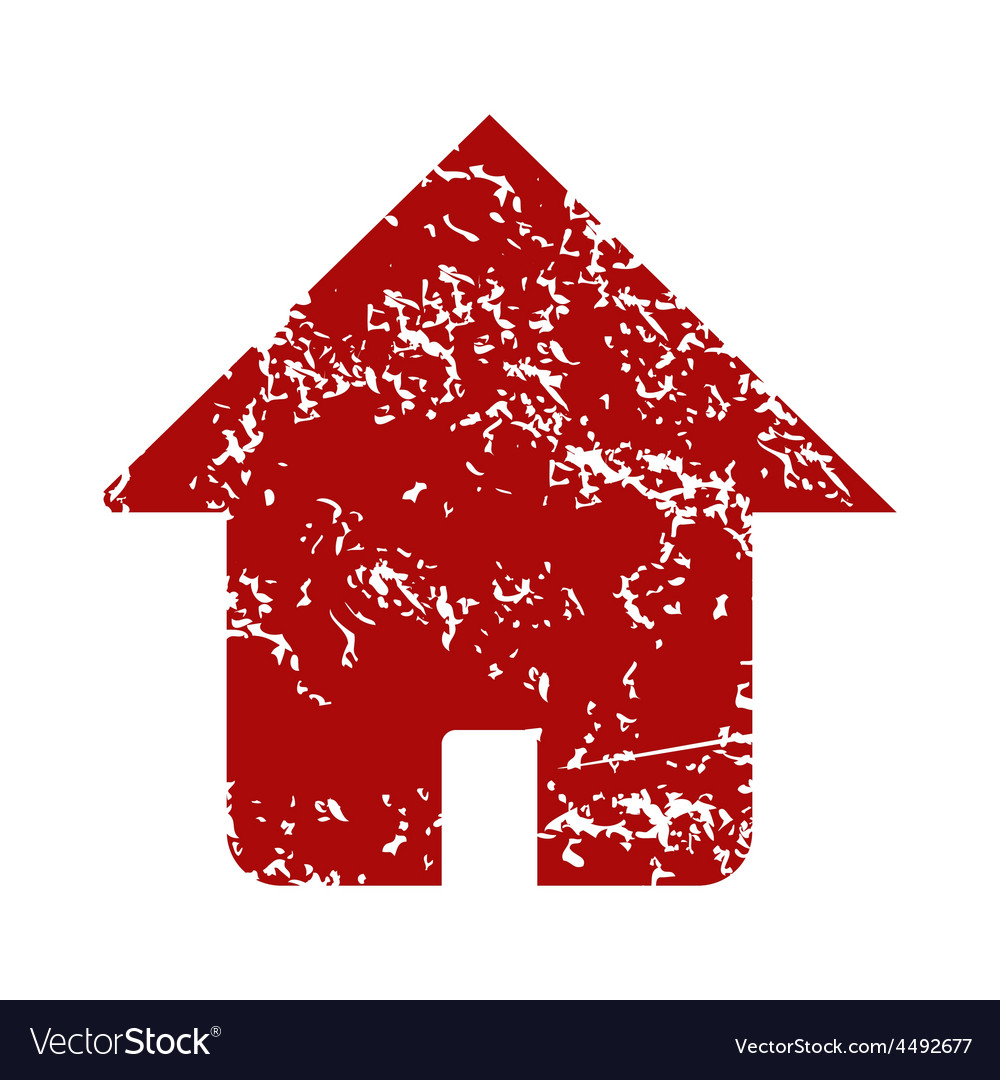 Red grunge home logo vector | Price: 1 Credit (USD $1)