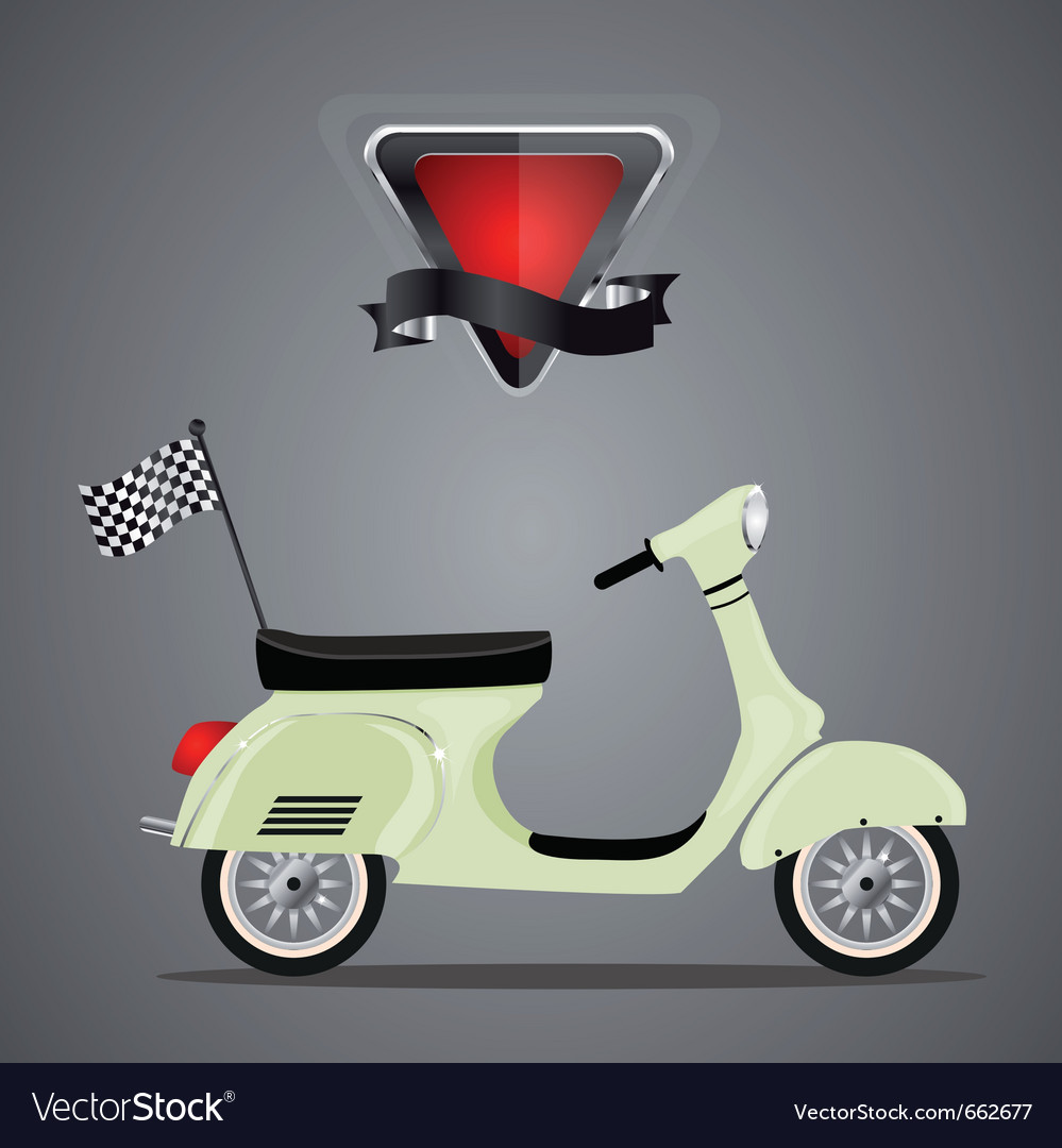 Retro scooter vector | Price: 1 Credit (USD $1)