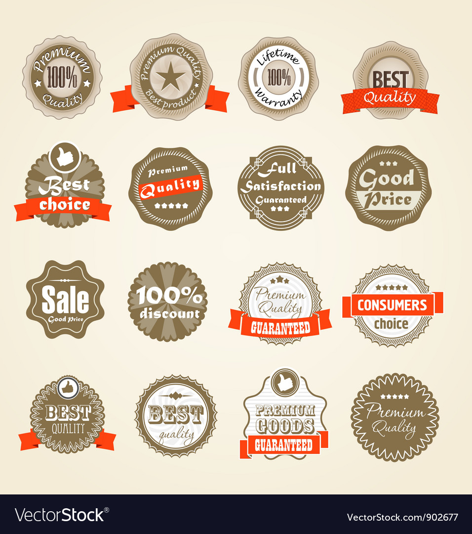 Shopping labels collection vector | Price: 1 Credit (USD $1)