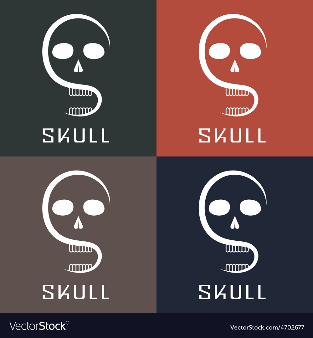 Skull monogram vector | Price: 1 Credit (USD $1)