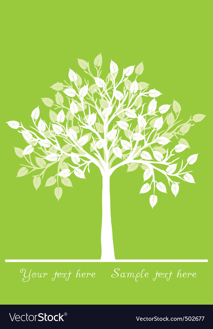 White tree vector | Price: 1 Credit (USD $1)