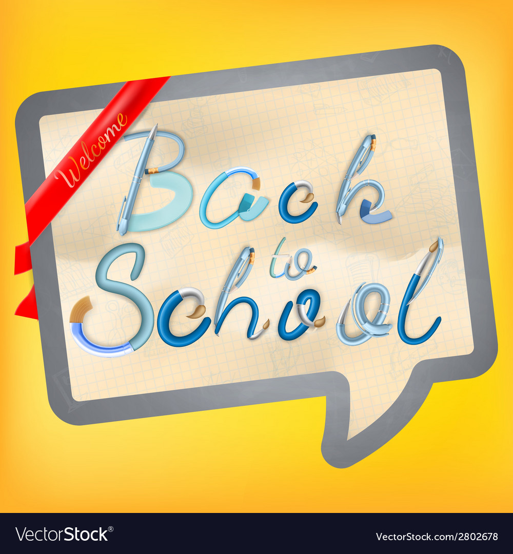 Back to school background eps 10 vector | Price: 1 Credit (USD $1)