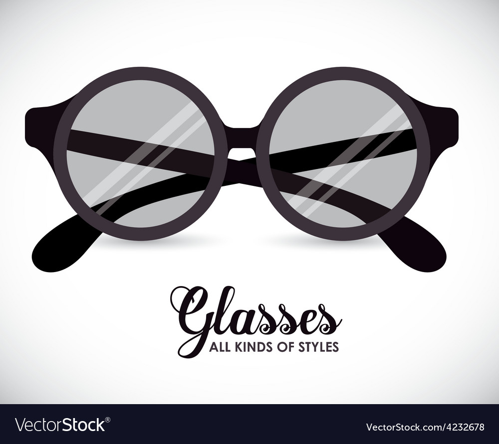Glasses design vector | Price: 1 Credit (USD $1)