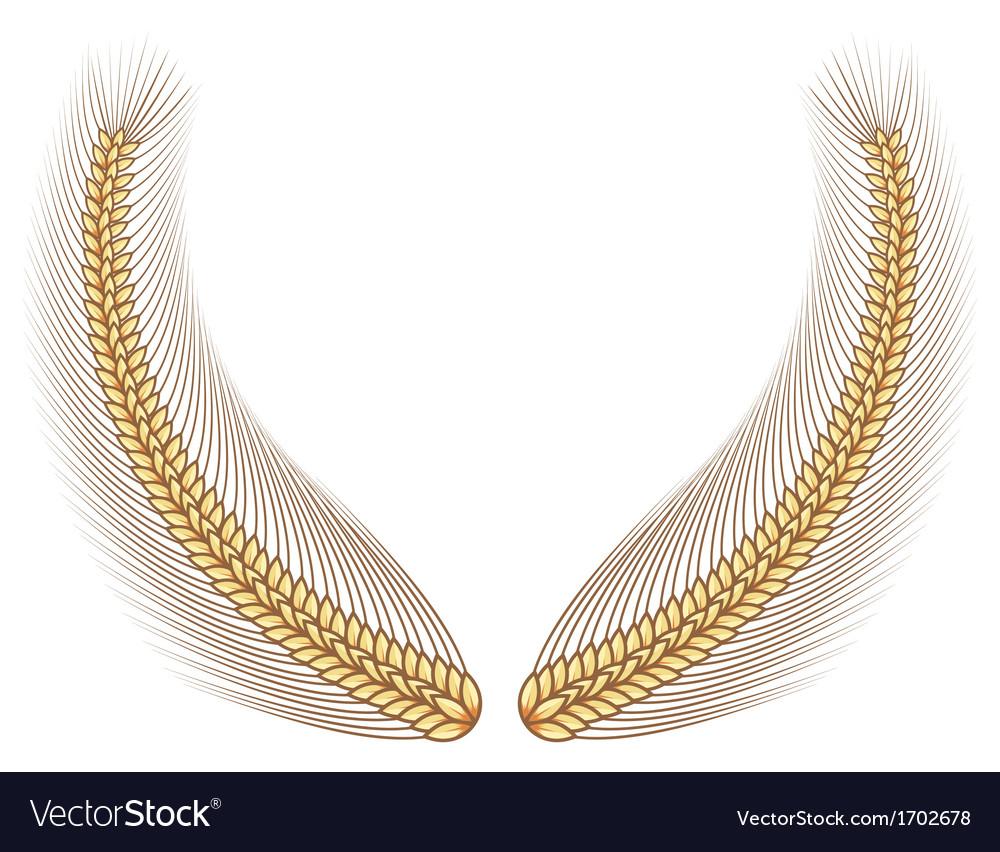 Gold wheat laurel vector | Price: 1 Credit (USD $1)