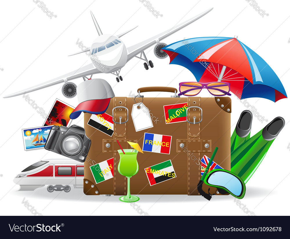 Old suitcase for travel 04 vector | Price: 3 Credit (USD $3)
