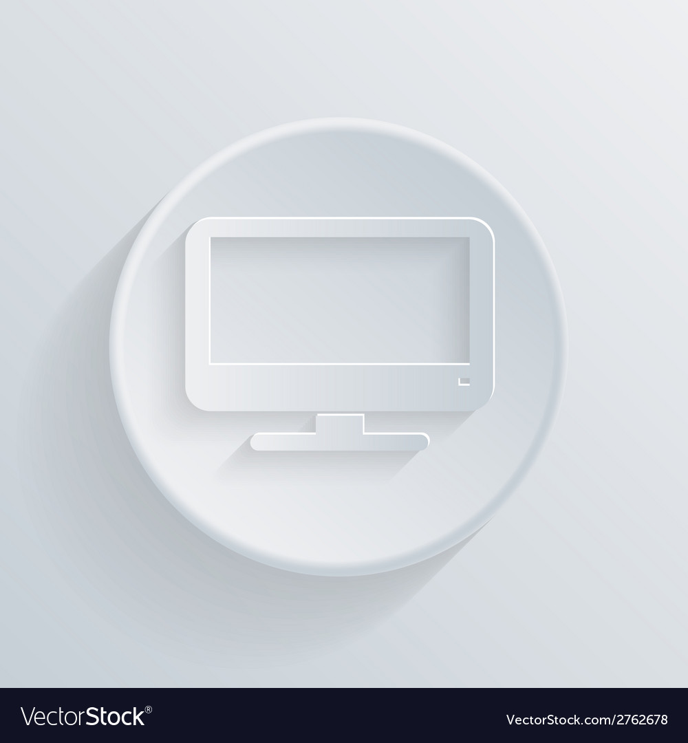 Paper flat icon monitor vector | Price: 1 Credit (USD $1)