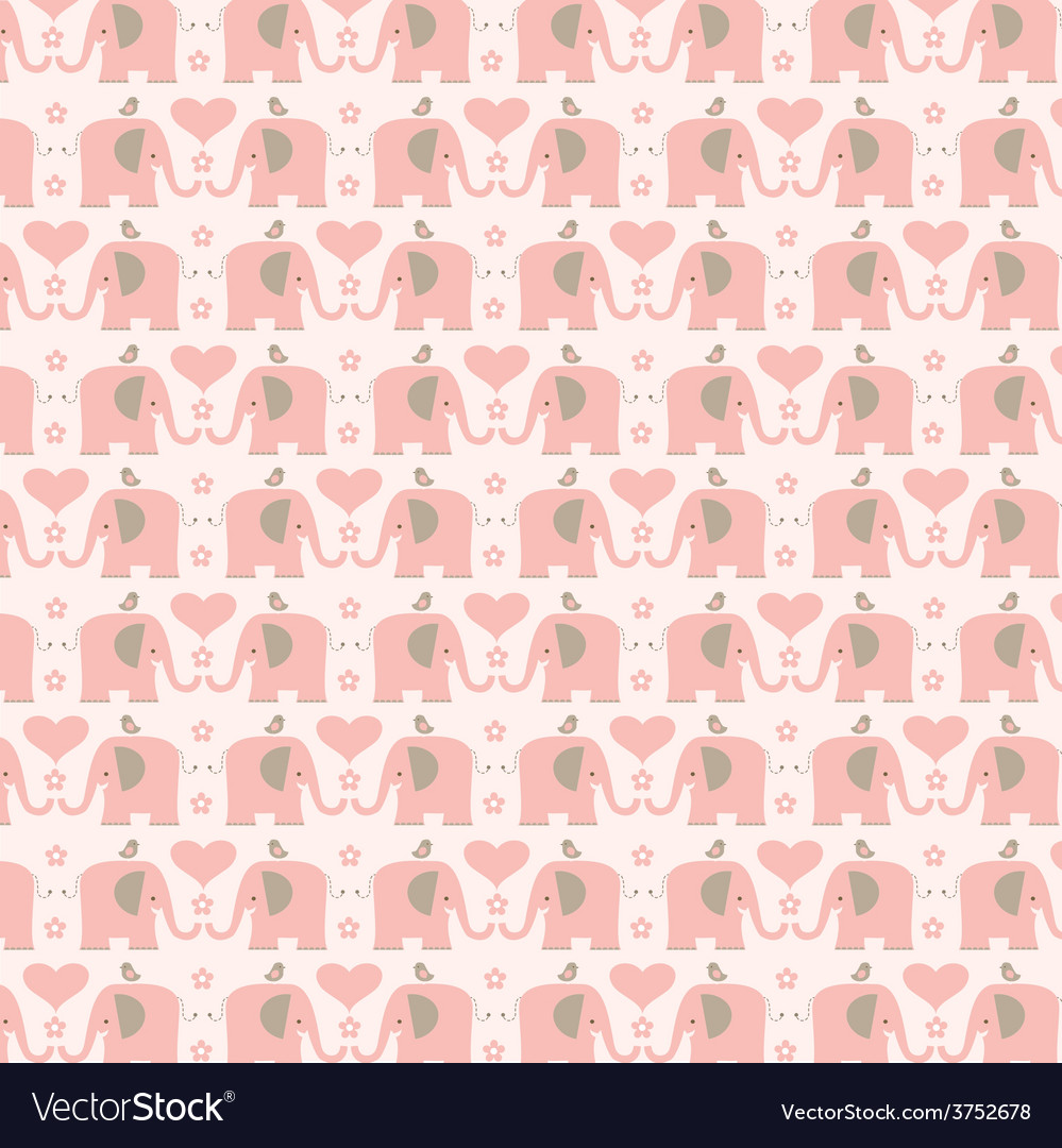 Pink elephants vector