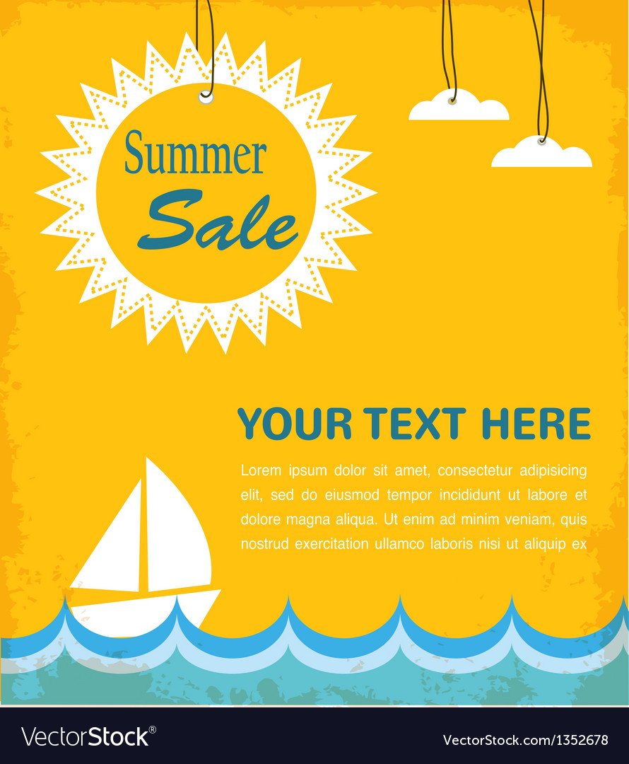 Summer sale infographic vector | Price: 1 Credit (USD $1)