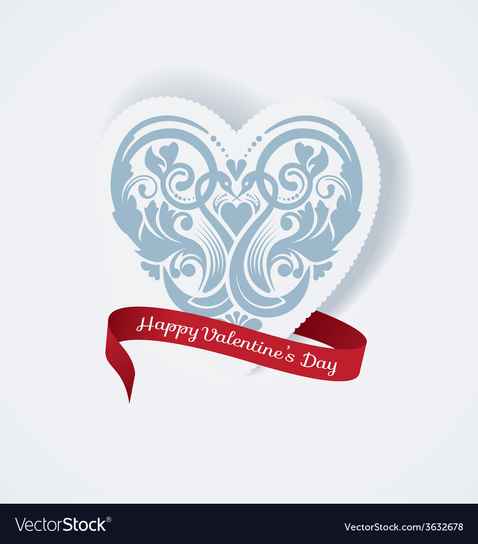 Valentines day love heart vector | Price: 1 Credit (USD $1)