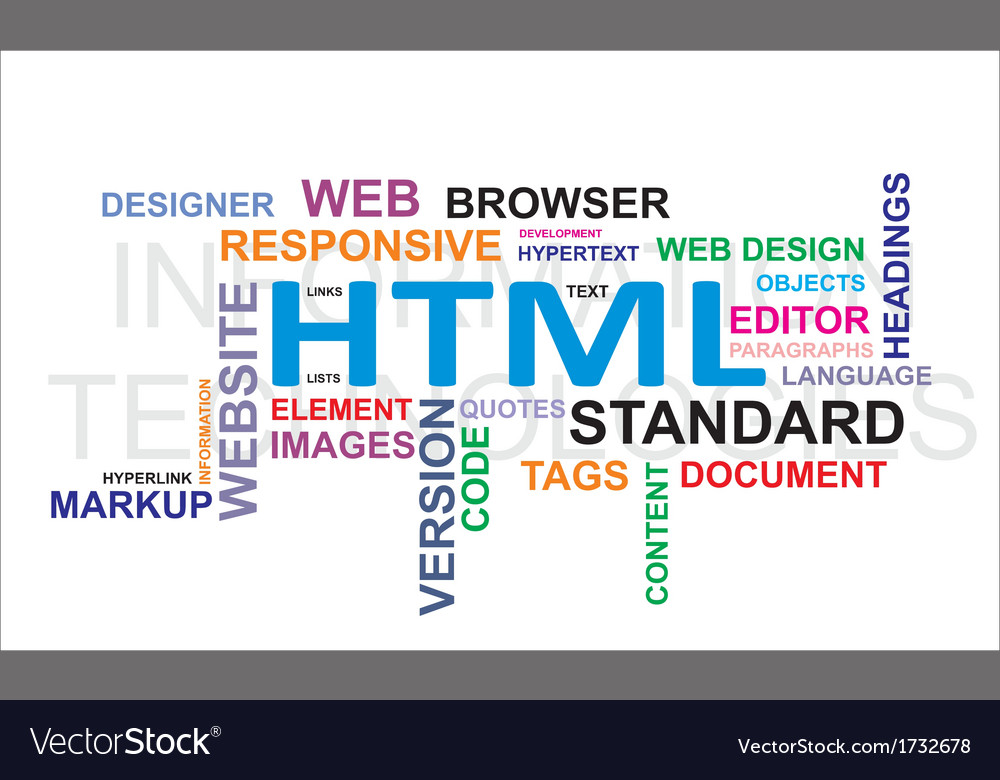 Word cloud html vector | Price: 1 Credit (USD $1)