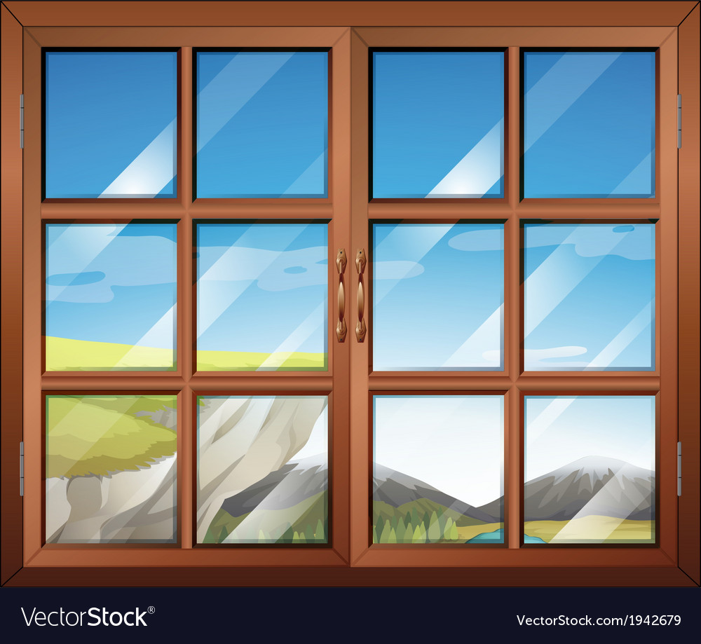 A closed window vector | Price: 1 Credit (USD $1)