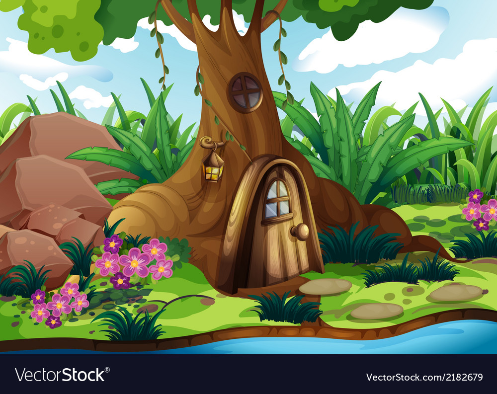 A treehouse at the forest vector | Price: 3 Credit (USD $3)