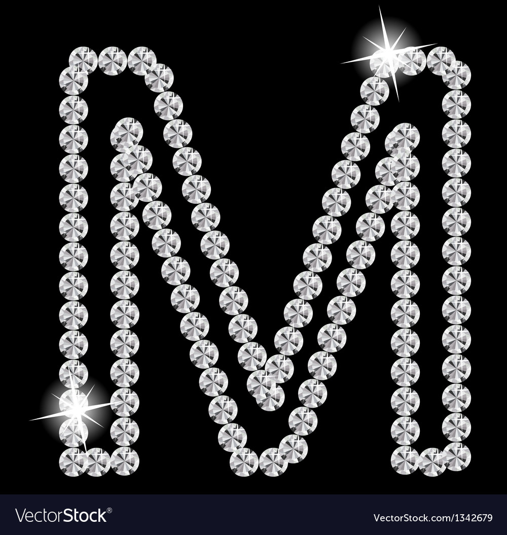 Diamond alphabet vector | Price: 1 Credit (USD $1)