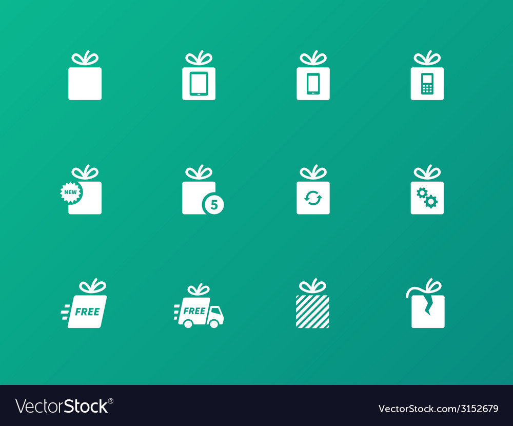Gift box set on green background vector | Price: 1 Credit (USD $1)