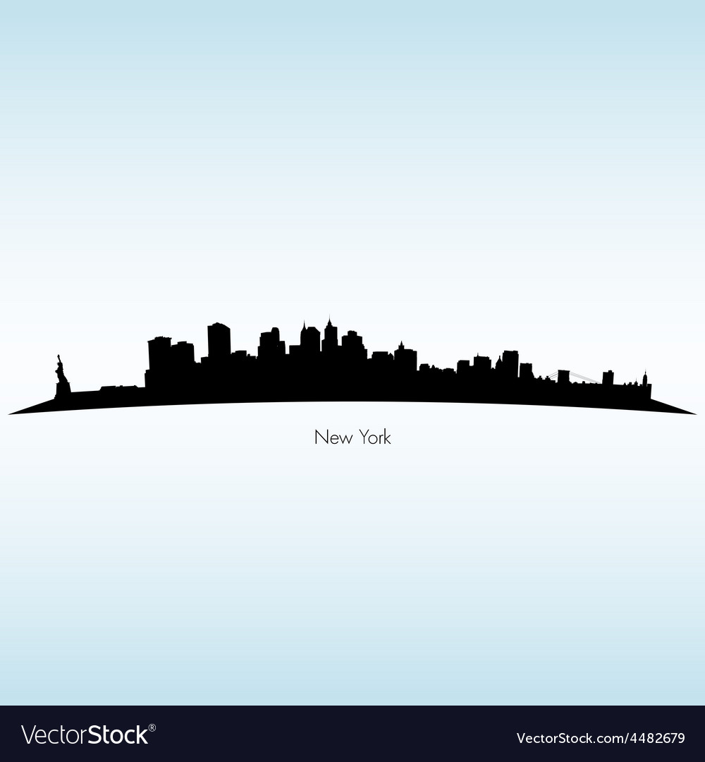 New york silhouette skyline vector | Price: 1 Credit (USD $1)