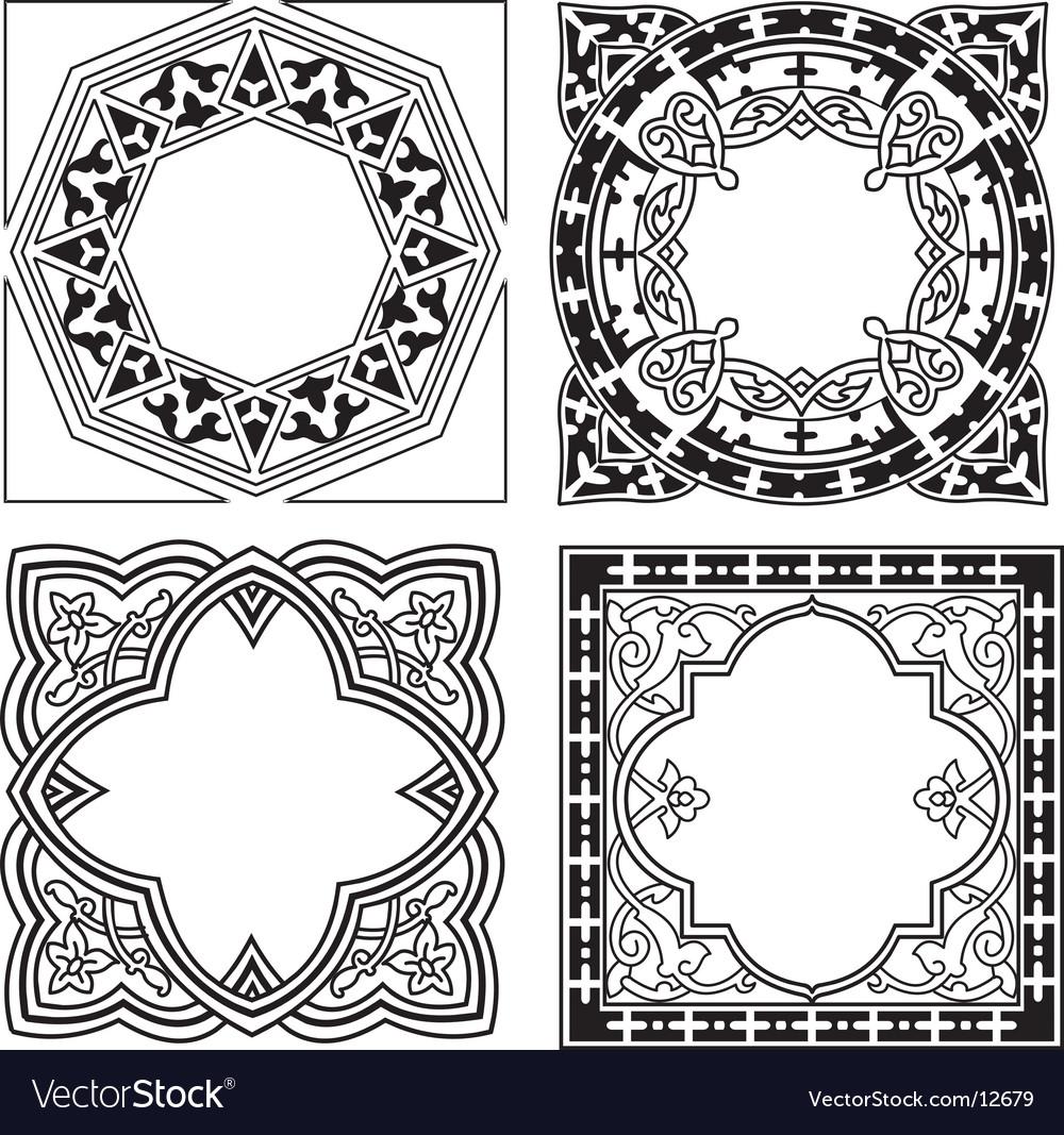 Quad ornament vector | Price: 1 Credit (USD $1)