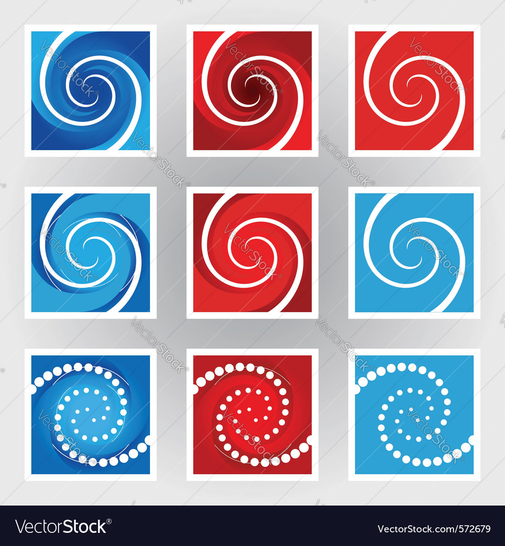 Swirl symbols set vector | Price: 1 Credit (USD $1)