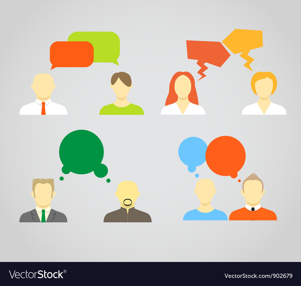 Talking people vector | Price: 1 Credit (USD $1)