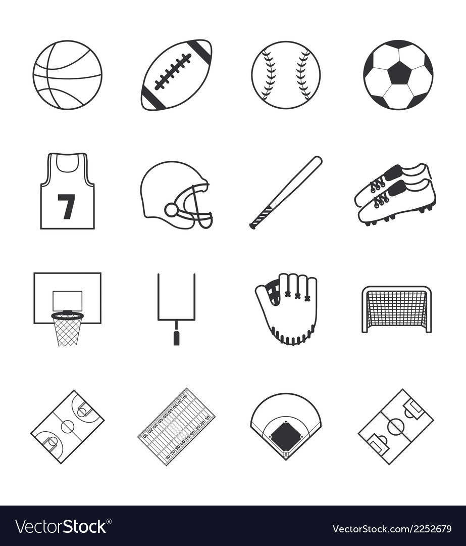 Team sports icons vector | Price: 1 Credit (USD $1)