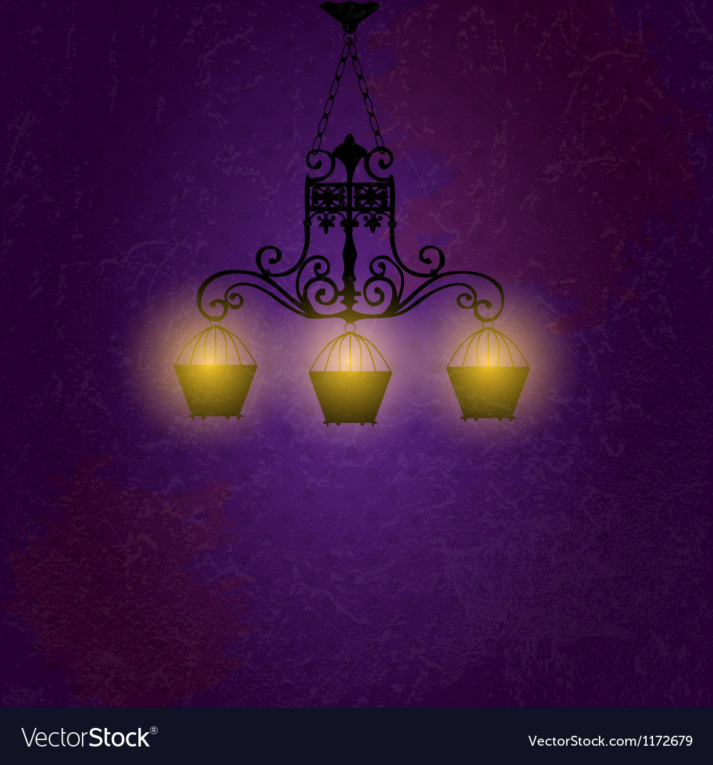 Vintage background with chandelier vector | Price: 1 Credit (USD $1)