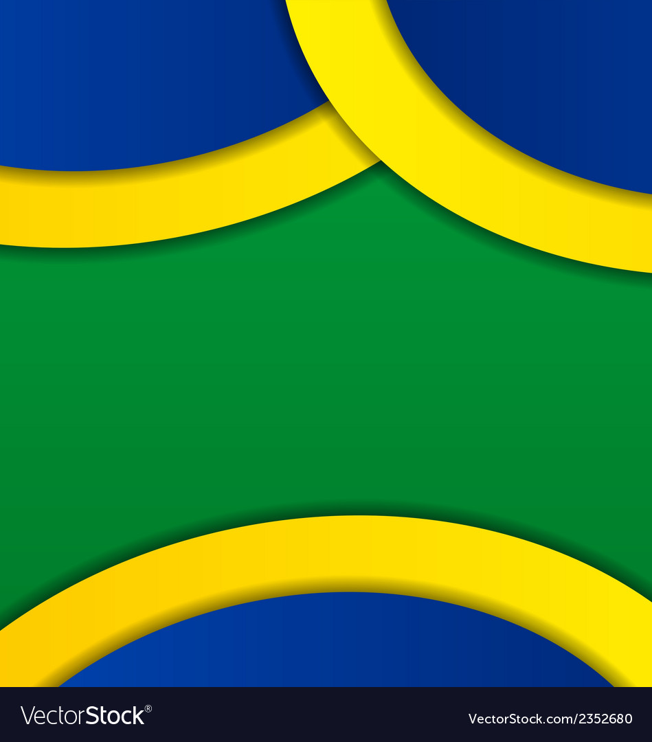 Abstract background in brazil flag colors vector | Price: 1 Credit (USD $1)