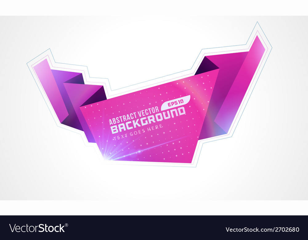 Abstract geometric 3d shape colorful banner vector   Price: 1 Credit (USD $1)
