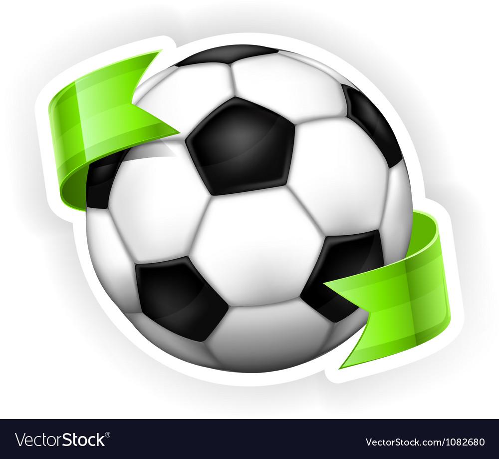 Ball green ribbon 10 v vector | Price: 1 Credit (USD $1)