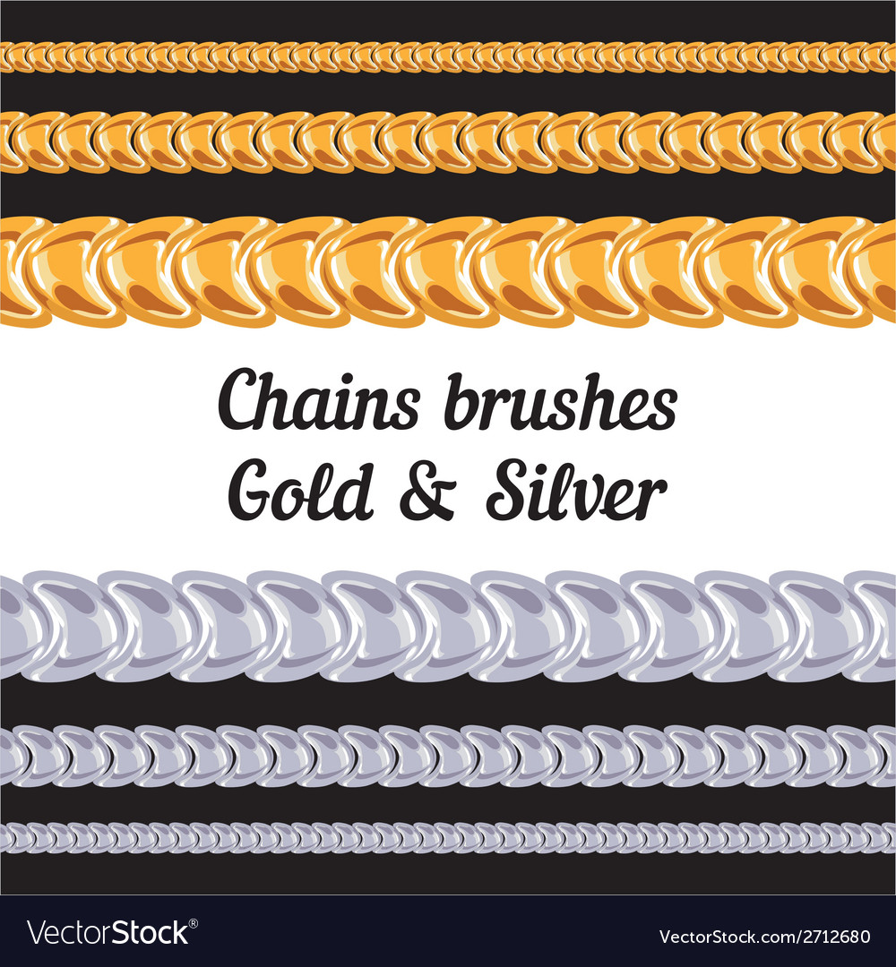 Chains metal brushes - gold and silver vector | Price: 1 Credit (USD $1)