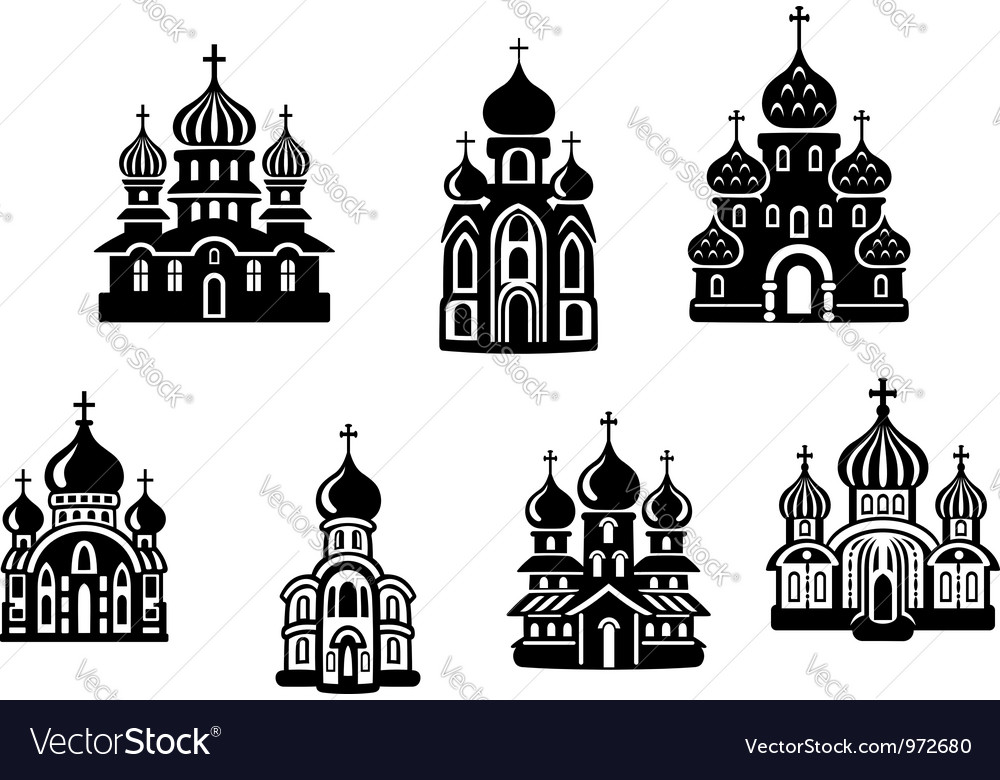 Churches and temples vector | Price: 1 Credit (USD $1)