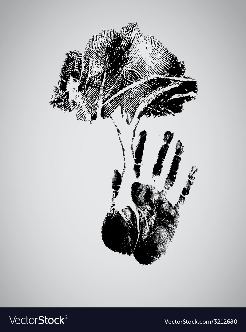 Concept of hand tree vector | Price: 1 Credit (USD $1)