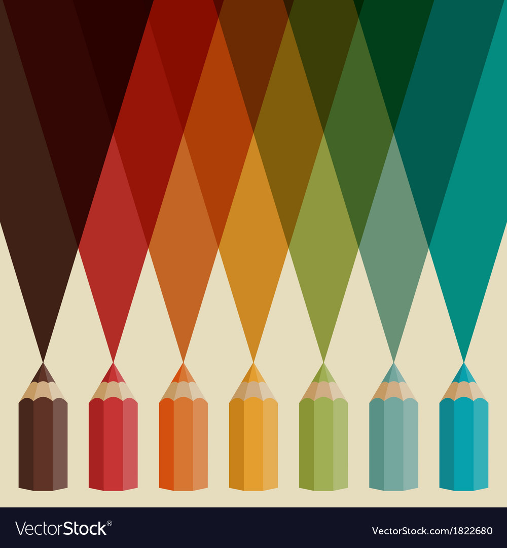 Creative background with colored pencils vector | Price: 1 Credit (USD $1)