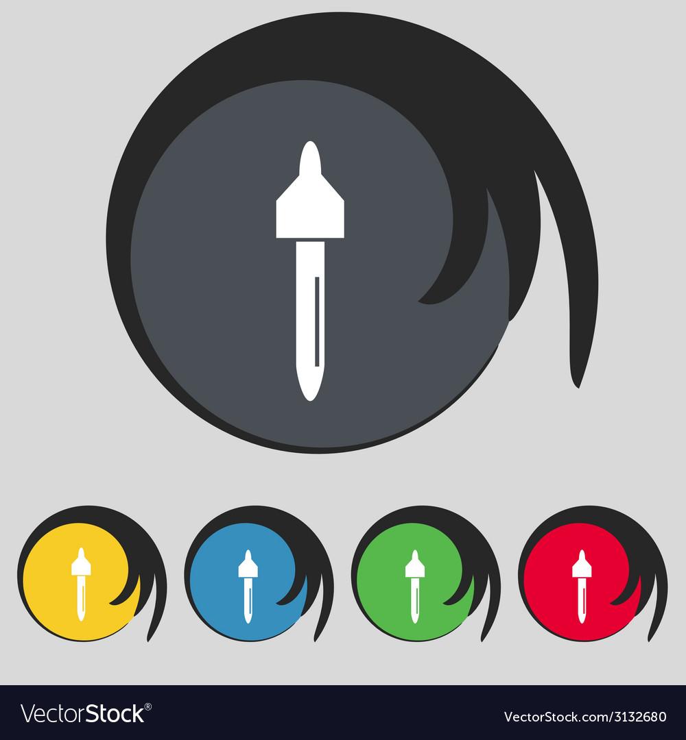 Dropper sign icon pipette symbol set of colored vector | Price: 1 Credit (USD $1)