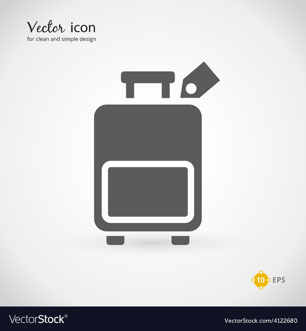 Gray suitcase or luggage graphic design vector | Price: 1 Credit (USD $1)