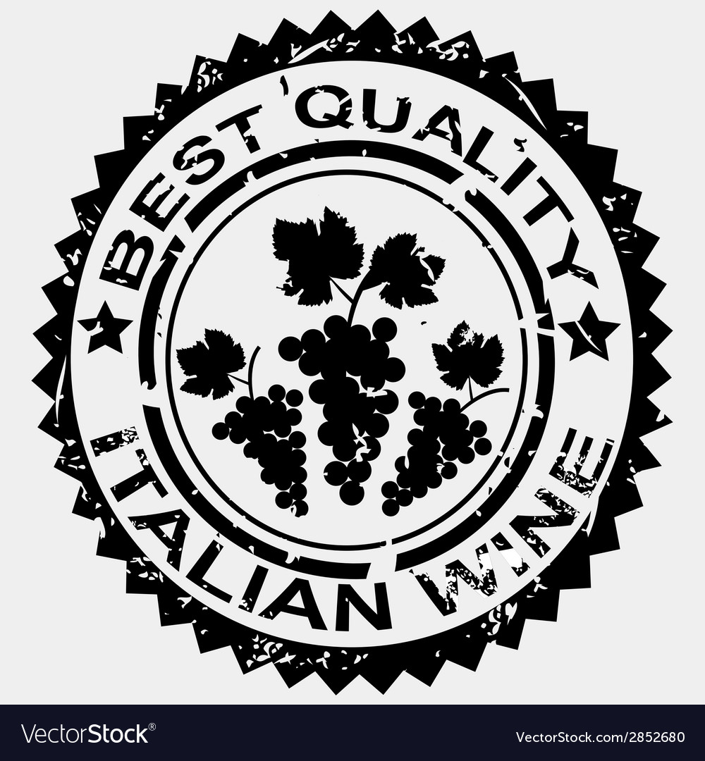 Grunge stamp quality label for italian wine vector | Price: 1 Credit (USD $1)