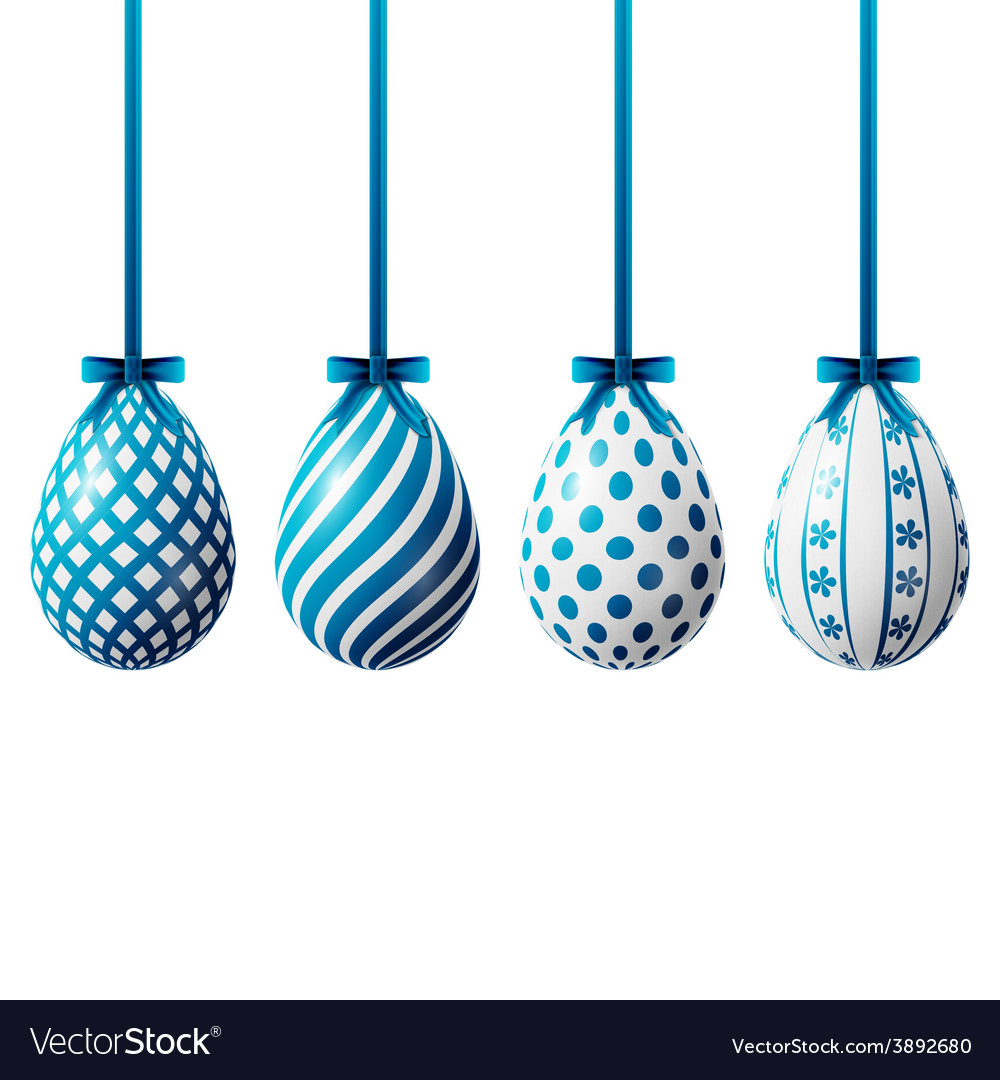 Isolated easter eggs vector | Price: 1 Credit (USD $1)