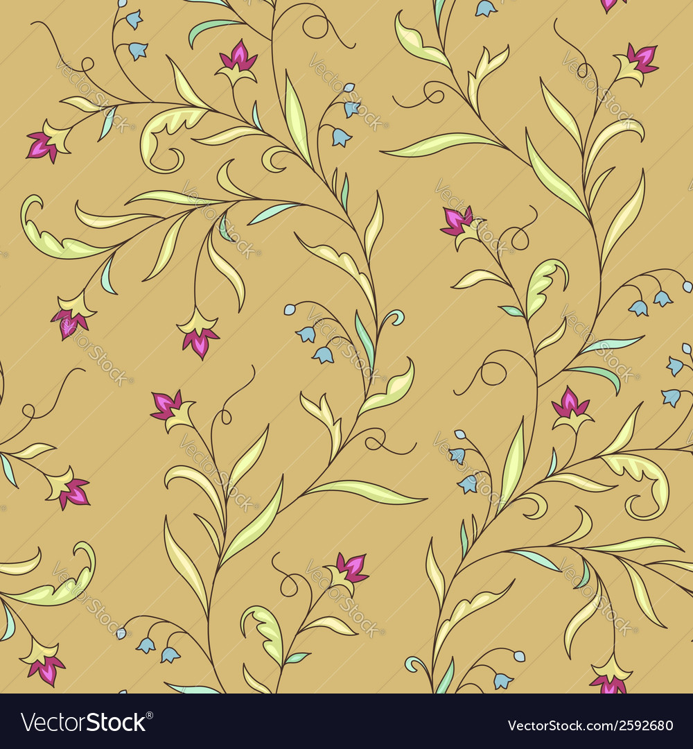 Pattern modernist flower vector | Price: 1 Credit (USD $1)