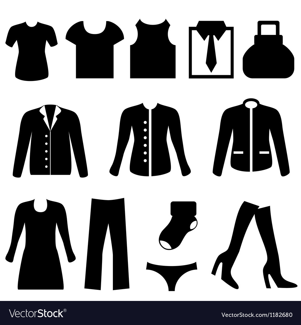Silhouette of clothing vector | Price: 1 Credit (USD $1)