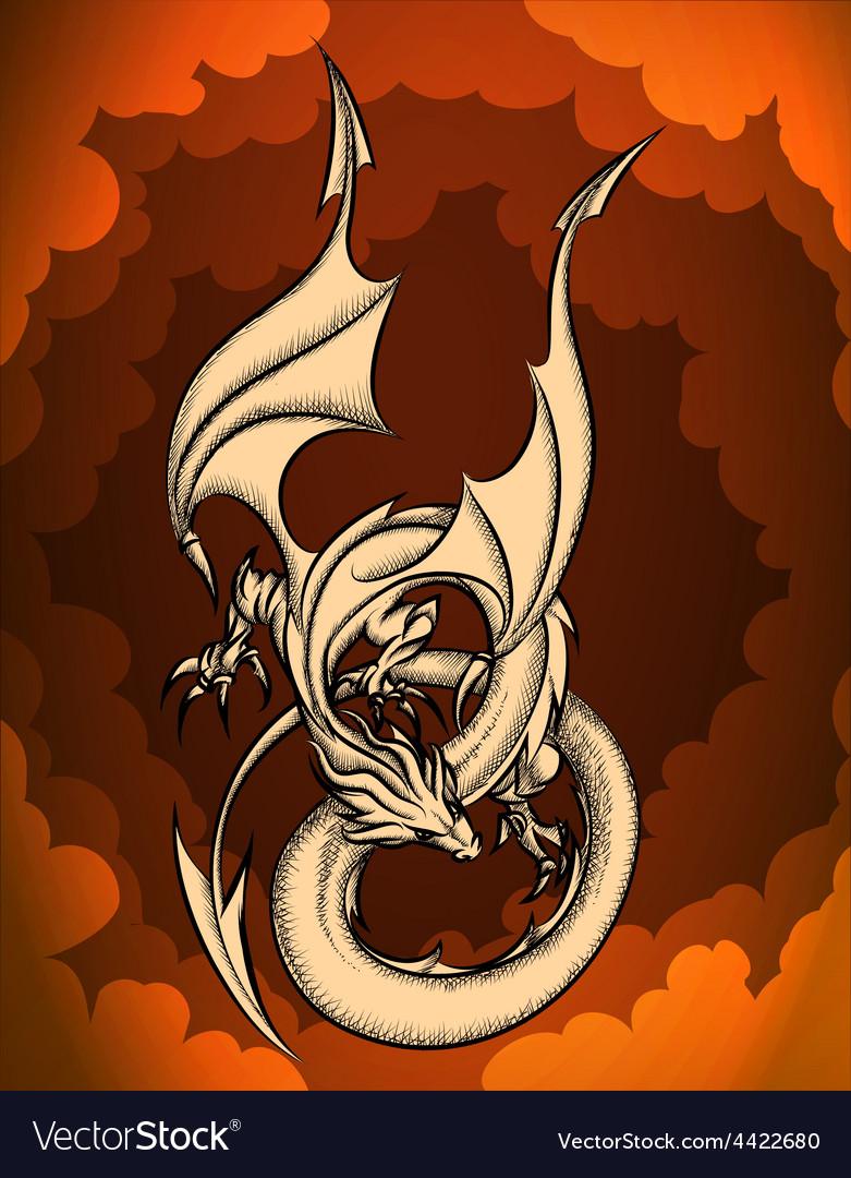 Sky dragon vector | Price: 1 Credit (USD $1)