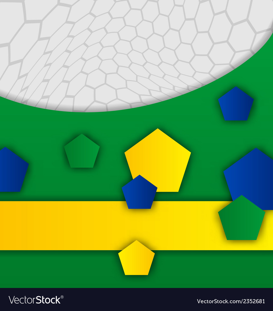 Abstract brazilian background with geometric vector | Price: 1 Credit (USD $1)