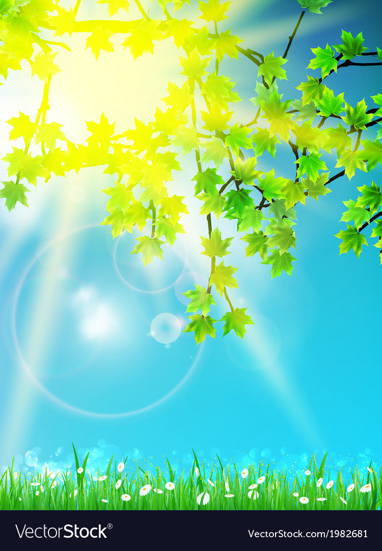 Abstract spring background vector | Price: 1 Credit (USD $1)