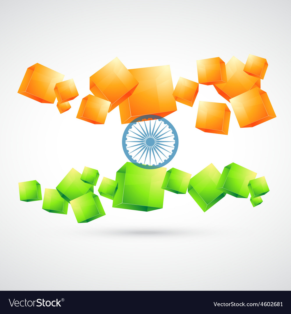 Artistic indian flag vector | Price: 1 Credit (USD $1)
