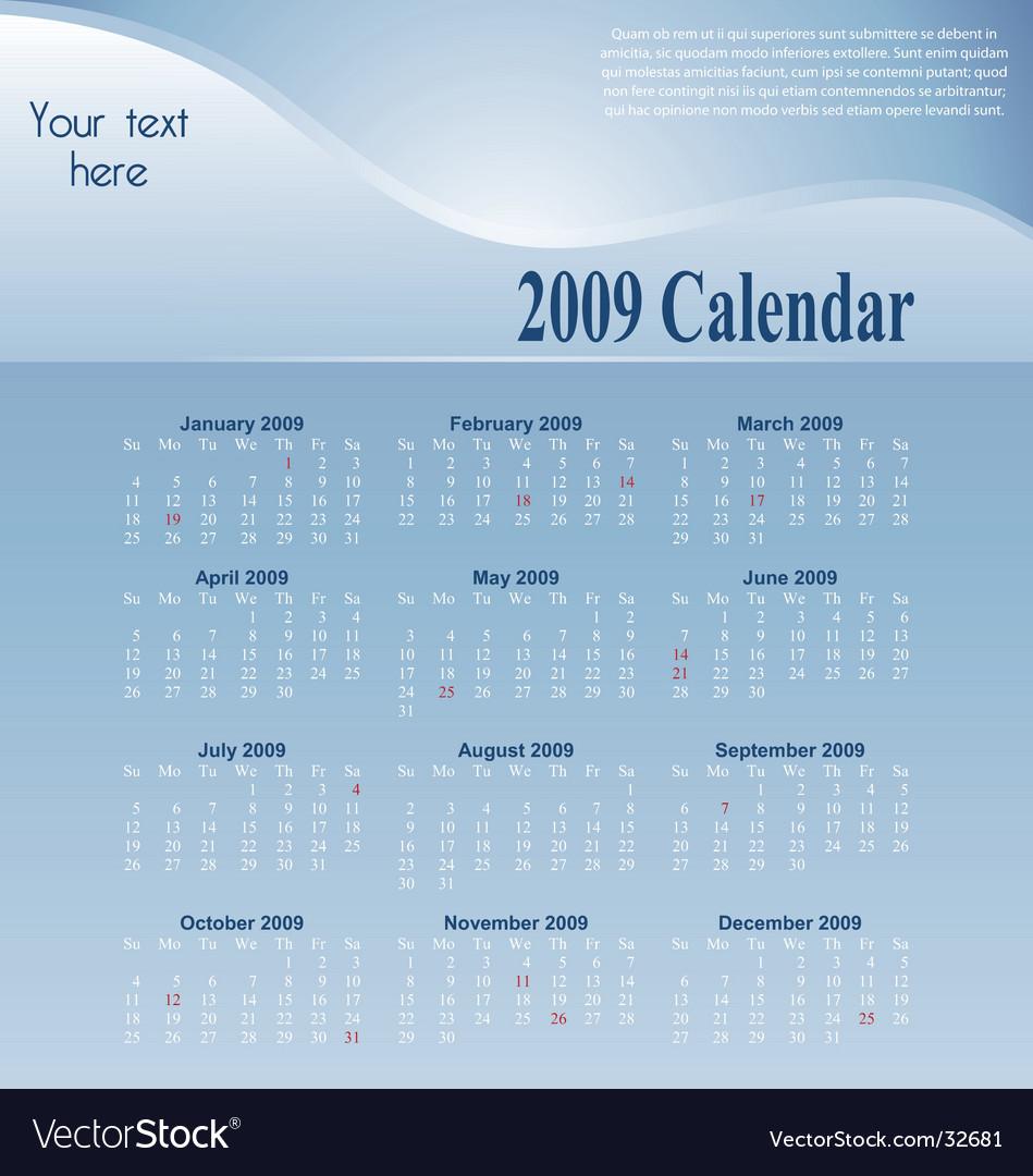 Blue-calendar vector | Price: 1 Credit (USD $1)