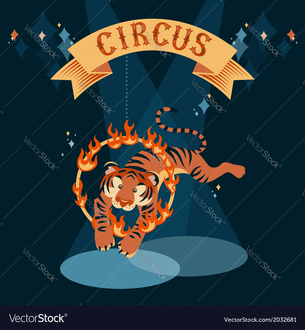 Circus tiger vector | Price: 1 Credit (USD $1)