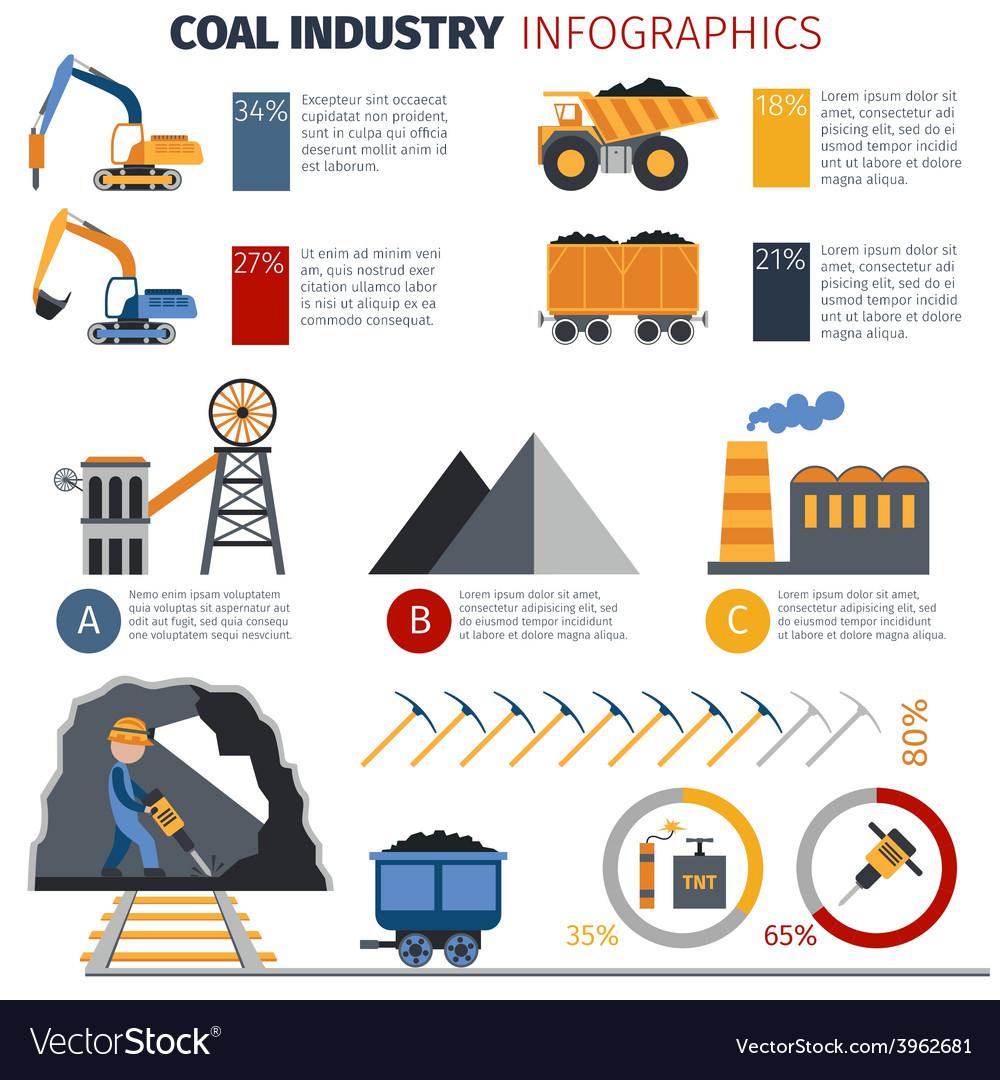 Coal industry infographics vector | Price: 1 Credit (USD $1)