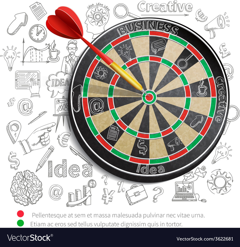 Creative background with dartboard vector   Price: 1 Credit (USD $1)